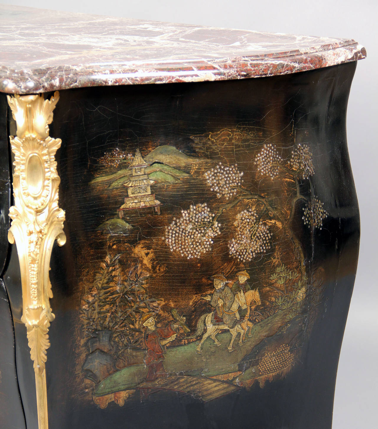 Exceptional Late 19th CenturyGilt Bronze-Mounted Lacquer Commode by Henry Dasson For Sale 1