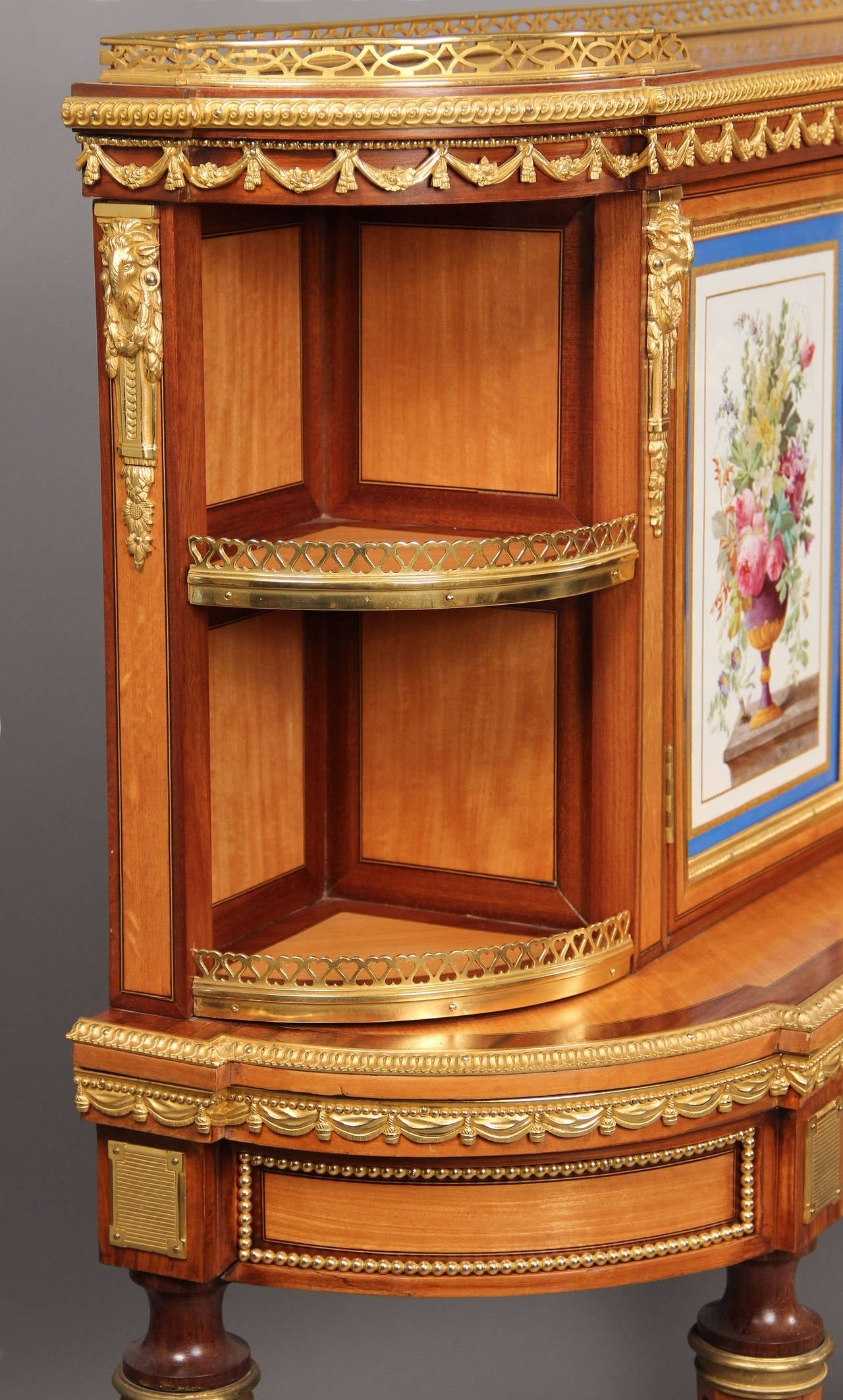 English Fine Pair of Late 19th Century Bronze and Sevres Porcelain Cabinets by Gillows For Sale