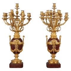 Pair of Late 19th Century French 13 Light Candelabra