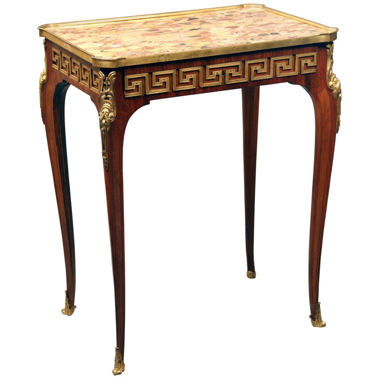 Fine Late 19th Century Gilt Bronze-Mounted Lamp Table by Paul Sormani For Sale