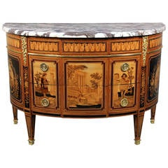 Unique Late 19th Century Inlaid Marquetry Commode by Paul Sormani
