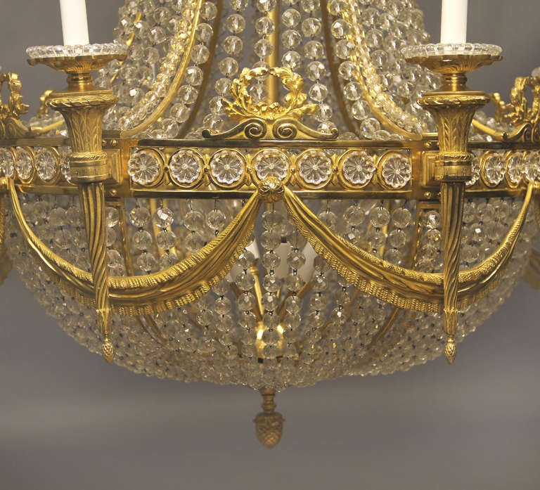 Russian Empire Style Baccarat Chandelier At 1stdibs
