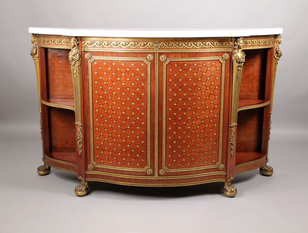 A Mid 19th Century Gilt Bronze Mounted Cabinet By Charles-Guillaume Winckelsen For Sale 4
