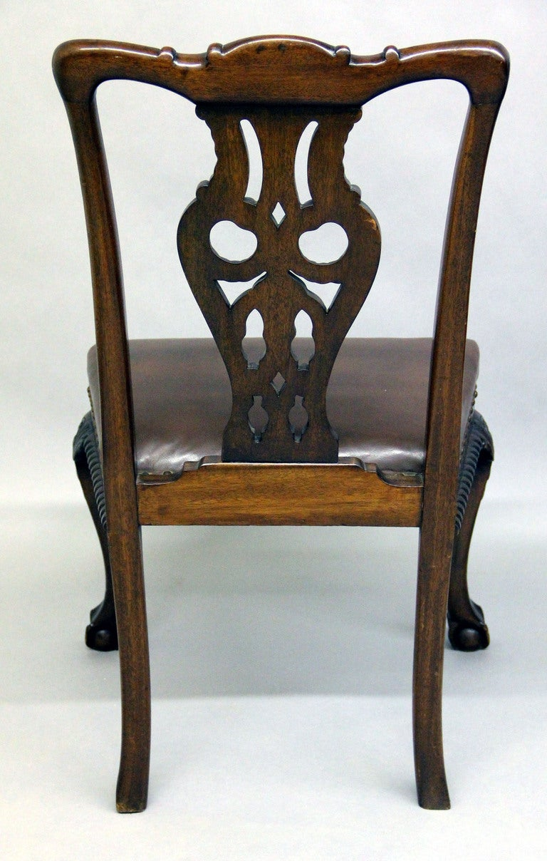 Large and Fantastic Set of 18 Antique Chippendale Dining Room Chairs For Sale 4