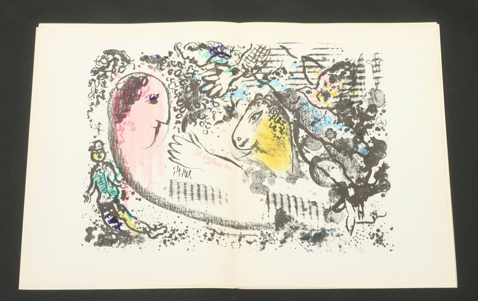 marc chagall derriere le miroir at 1stdibs
