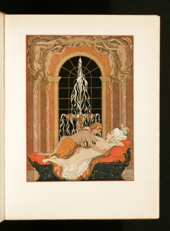 ONE OF 650 COPIES ON RIVES (out of a total edition of 720), with 20 FULL-PAGE POCHOIR PLATES by BARBIER. With additional illustrated titles and head-pieces. Barbier's Art-Deco representation of Laclos's classic tale of sexual politics is one of the