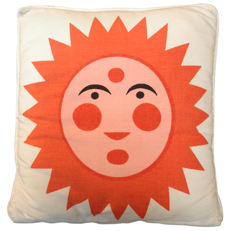 Alexander Girard Sun & Heart Pillow 1961. Herman Miller 1