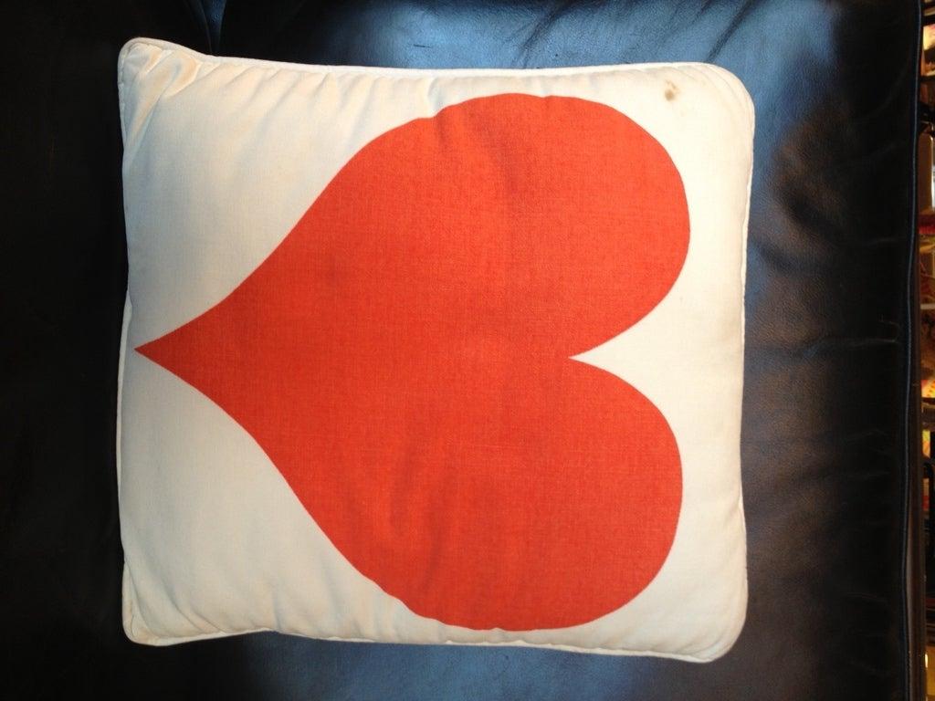 Alexander Girard Sun & Heart Pillow 1961. Herman Miller 3