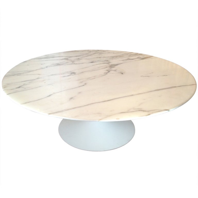 Eero Saarinen Marble Tulip Coffee Table Knoll 1955
