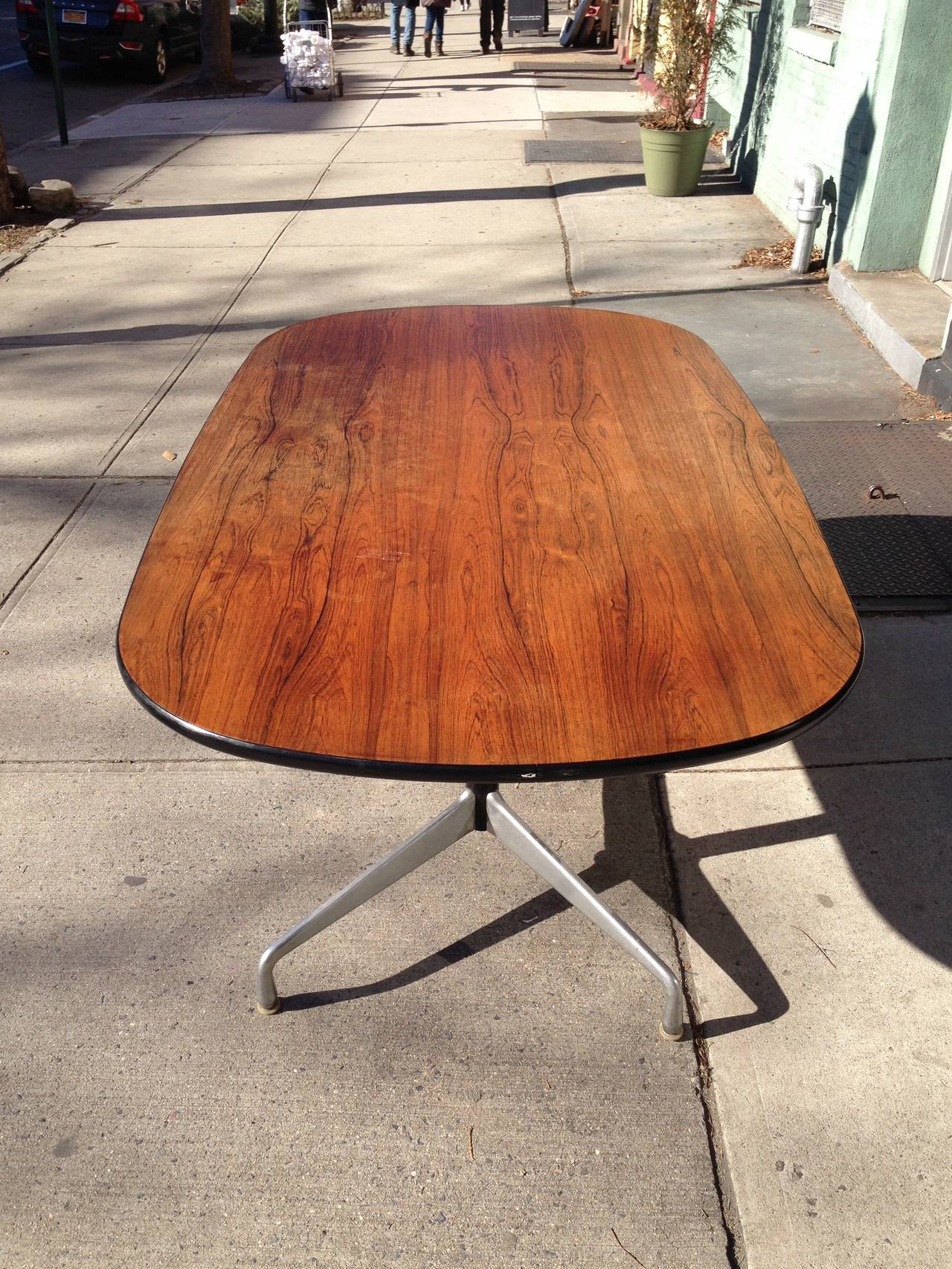 charles and ray eames segmented base rosewood table by. Black Bedroom Furniture Sets. Home Design Ideas