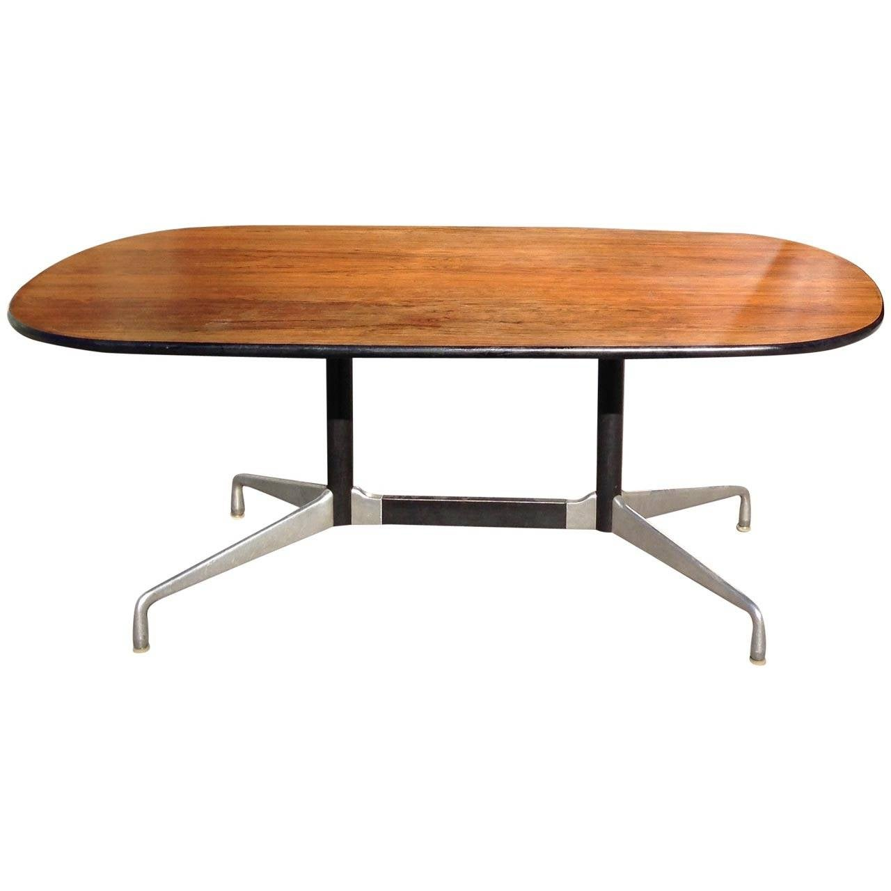 charles and ray eames segmented base rosewood table by herman  - charles  ray eames segmented base rosewood table by herman miller