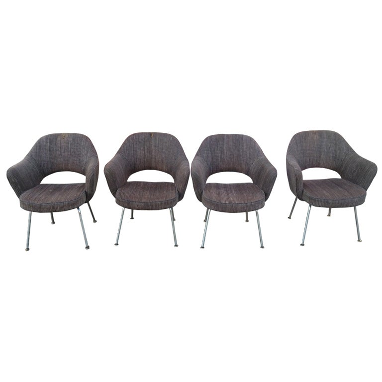 Eero saarinen set of 4 armchairs for knoll international at 1stdibs