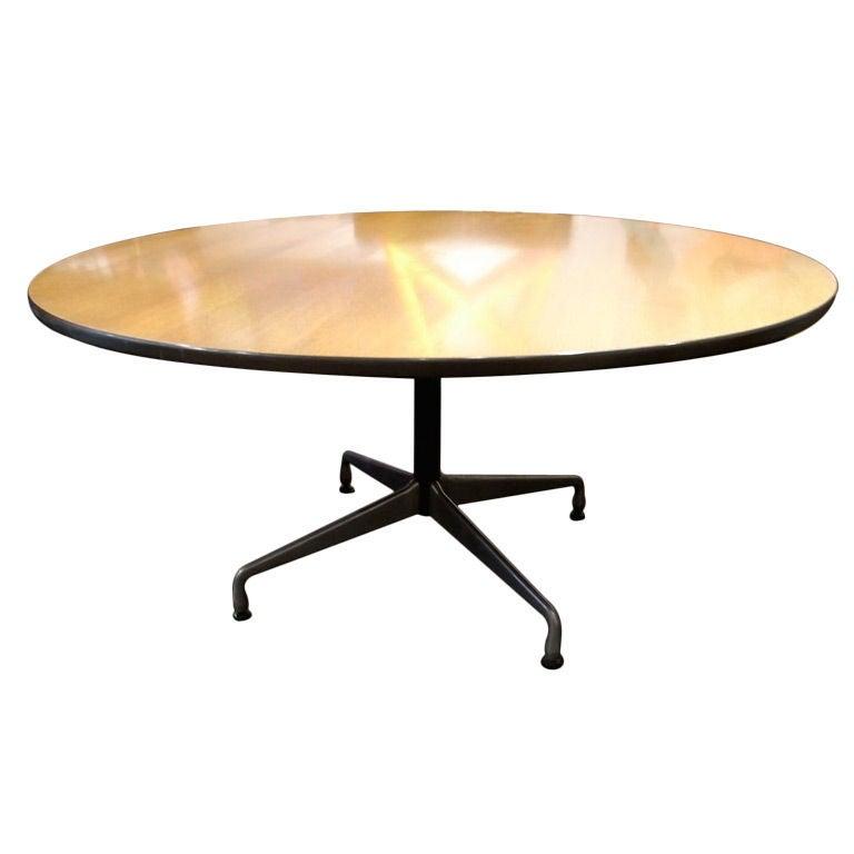 Eames segmented base oak table by herman miller at 1stdibs - Eames table herman miller ...