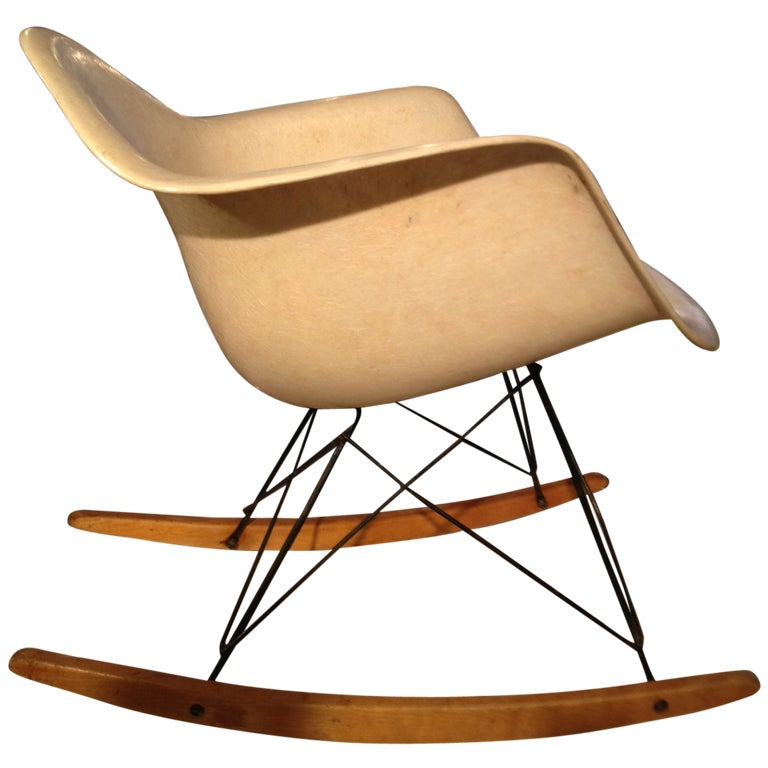 charles and ray eames rar rope edge rocking chair zenith herman miller