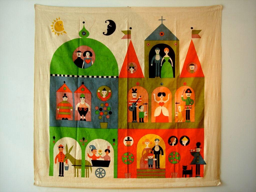 """Rare Alexander Girard """"House"""" Hanging. Herman Miller 1964 2"""