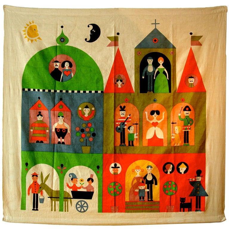 """Rare Alexander Girard """"House"""" Hanging. Herman Miller 1964"""