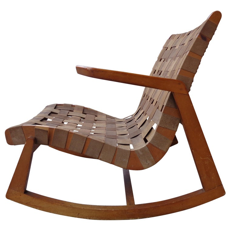 Ralph rapson rocking chair for knoll c 1945 at 1stdibs - Knoll rocking chair ...