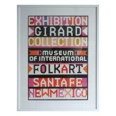 Rare Alexander Girard Folk Art Poster 1981
