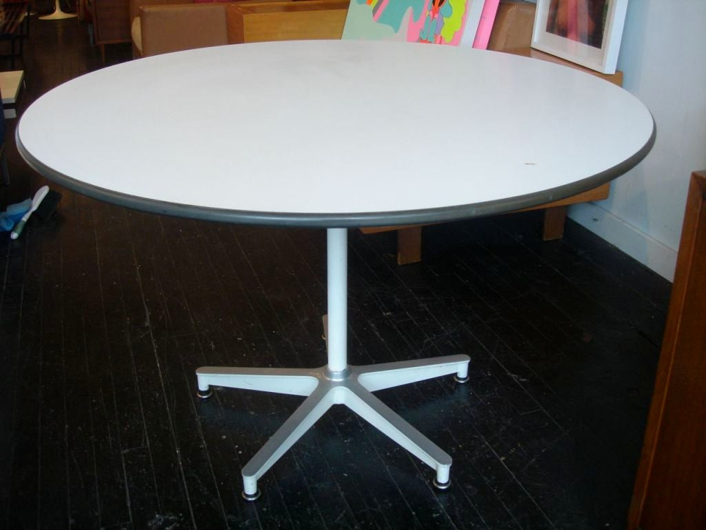early eames contract base dining table herman miller. Black Bedroom Furniture Sets. Home Design Ideas