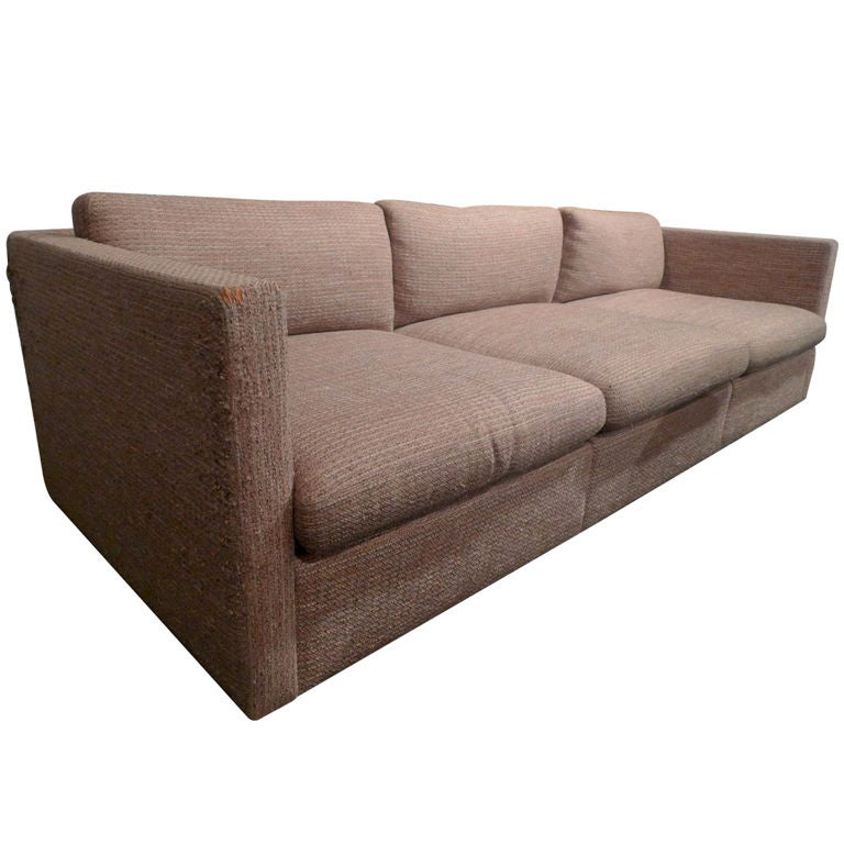 Charles Pfister 3 Seat Club Sofa For Knoll International