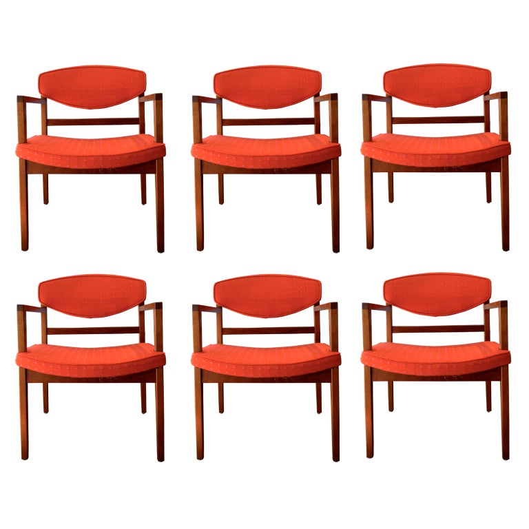 set of 6 nelson for herman miller dining chairs w girard