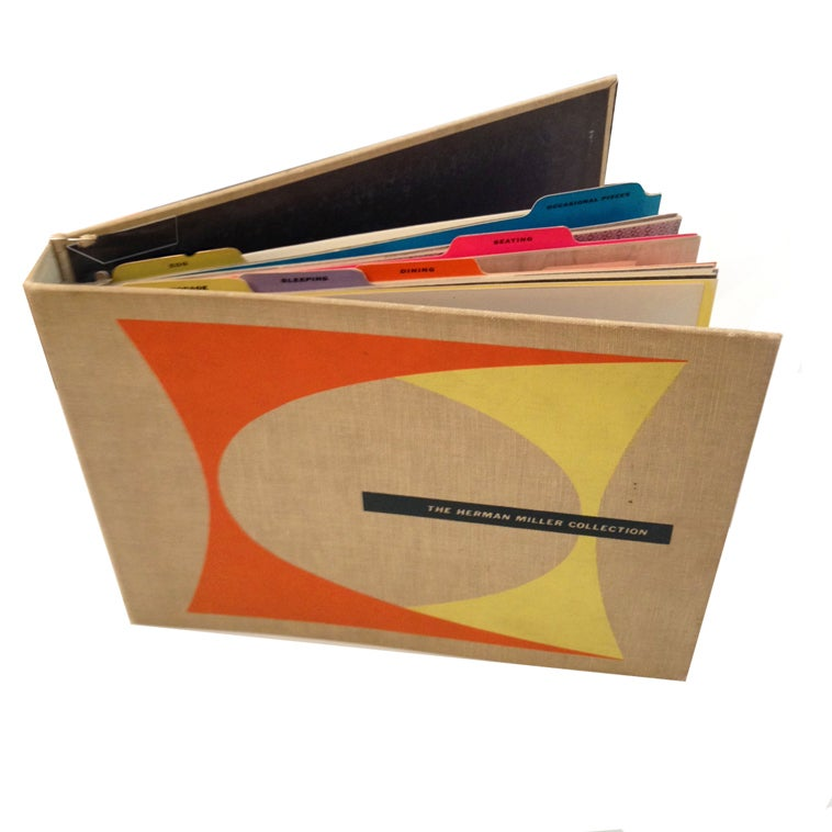 original 1955 herman miller collection catalog at 1stdibs. Black Bedroom Furniture Sets. Home Design Ideas