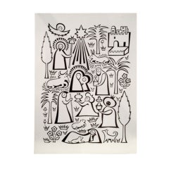 Alexander Girard Oversized Nativity Greeting card for Hallmark.