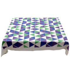 Alexander Girard Custom Triangles Table Cloth, Herman Miller