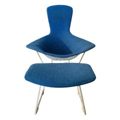 Harry Bertoia Bird Chair and Ottoman, Knoll 1952.
