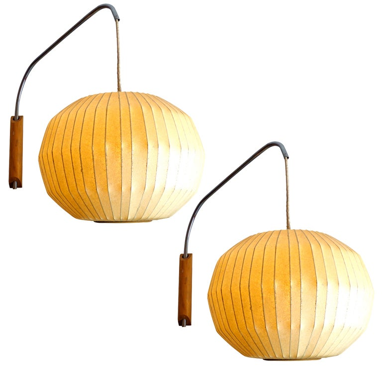 this george nelson wall mounted bubble lamps 1950 for howard miller is. Black Bedroom Furniture Sets. Home Design Ideas