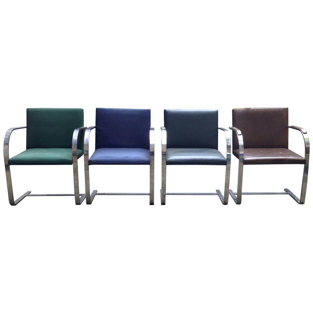 16 ludwig mies van der rohe flat bar brno chairs by knoll