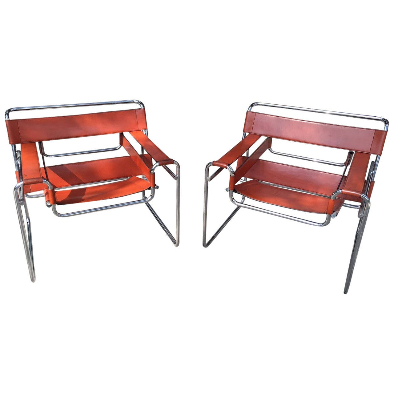 marcel breuer pair of wassily chairs knoll 1968 at 1stdibs. Black Bedroom Furniture Sets. Home Design Ideas
