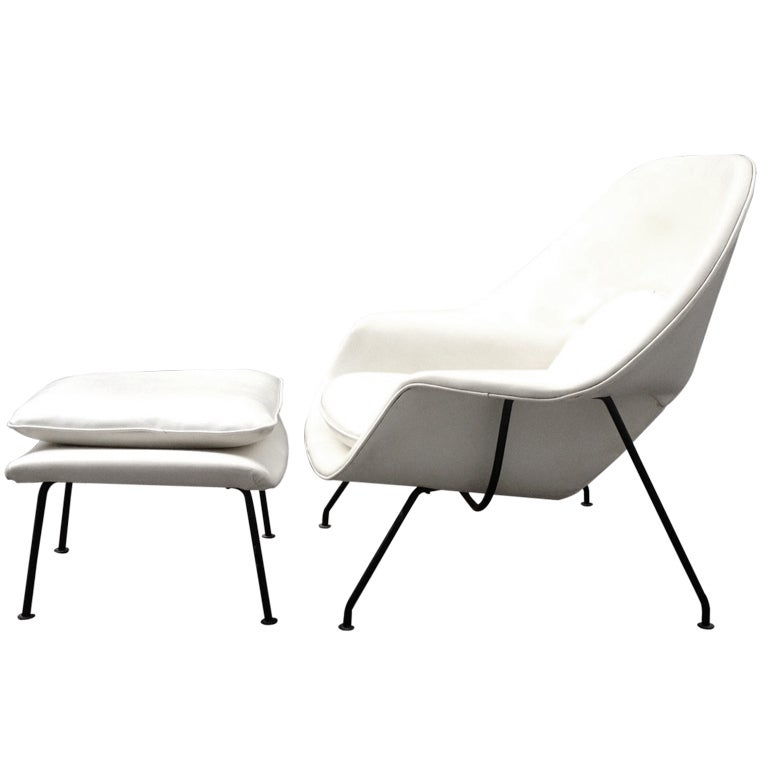 this early eero saarinen womb chair and ottoman knoll c 1946 is no