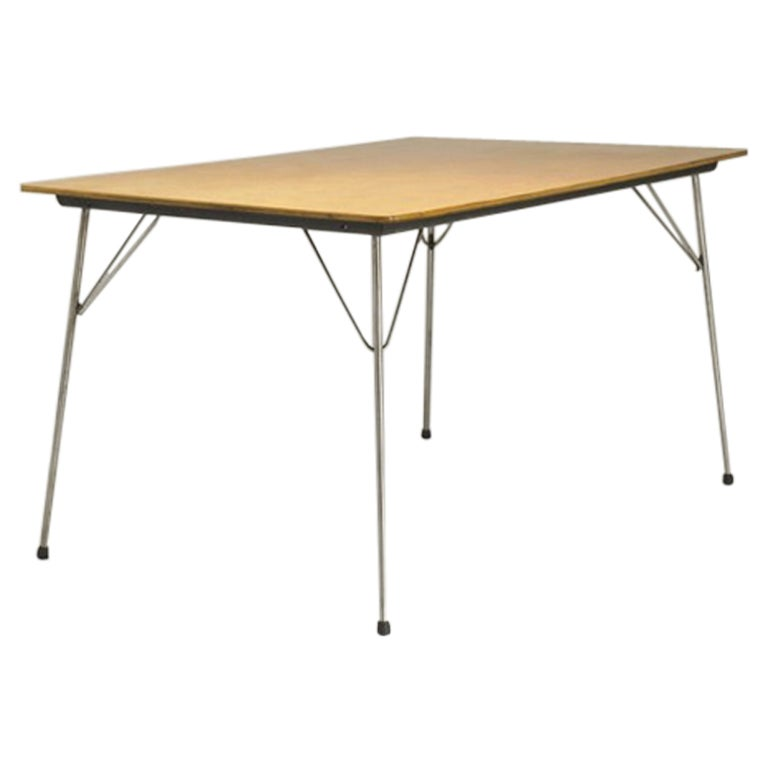 Charles and ray eames dtm1 dining table metal at 1stdibs for Table ronde charles eames