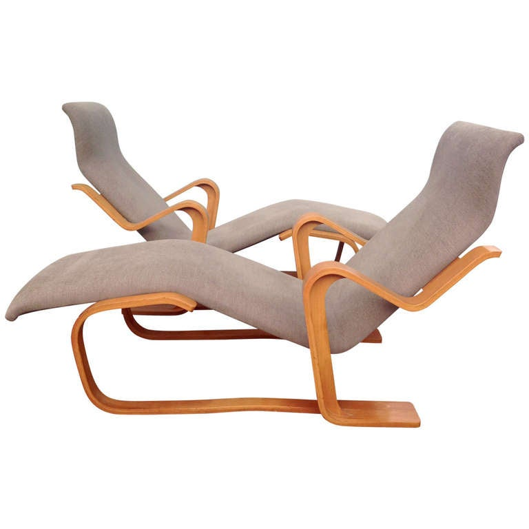 marcel breuer reclining chair s for knoll 1970 at 1stdibs. Black Bedroom Furniture Sets. Home Design Ideas