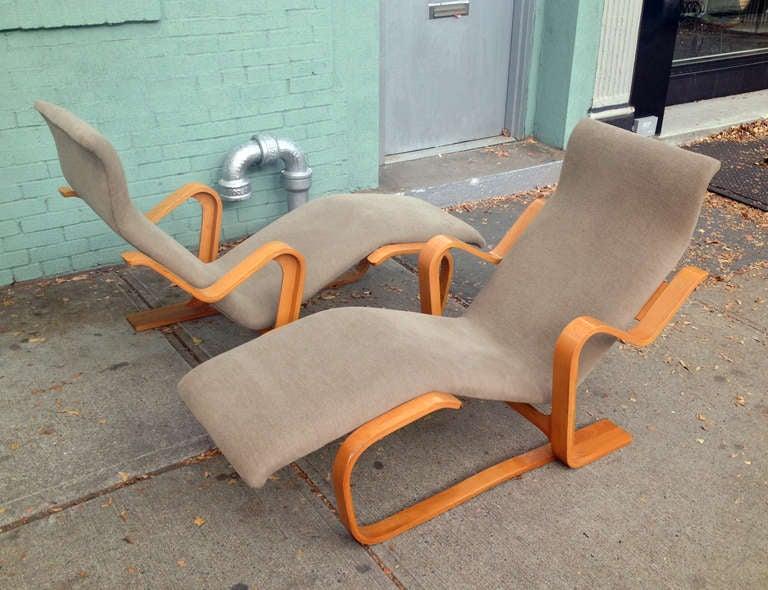 Mid-Century Modern Marcel Breuer Reclining Chair(s) for Knoll, 1970
