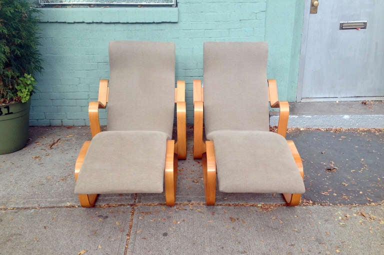 Marcel Breuer Reclining Chair(s) for Knoll, 1970 In Excellent Condition In Brooklyn, NY