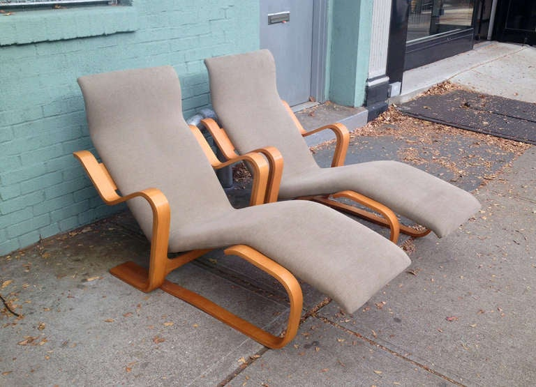 American Marcel Breuer Reclining Chair(s) for Knoll, 1970