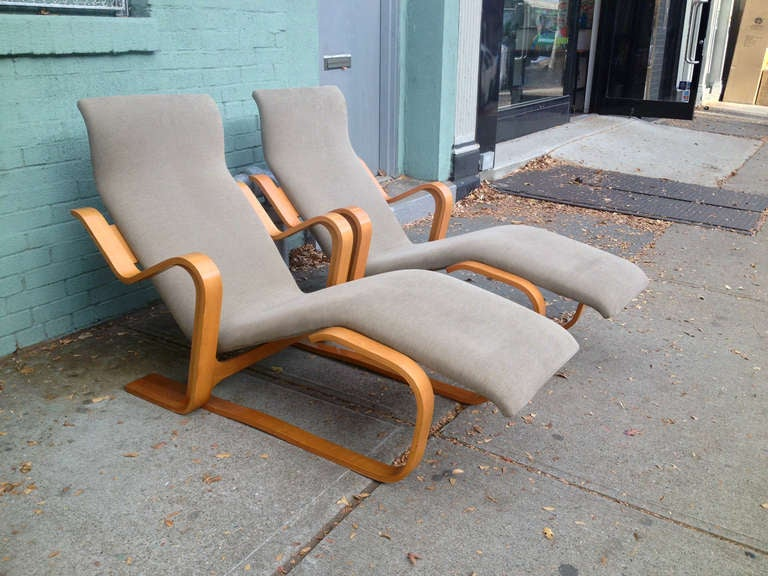 Late 20th Century Marcel Breuer Reclining Chair(s) for Knoll, 1970