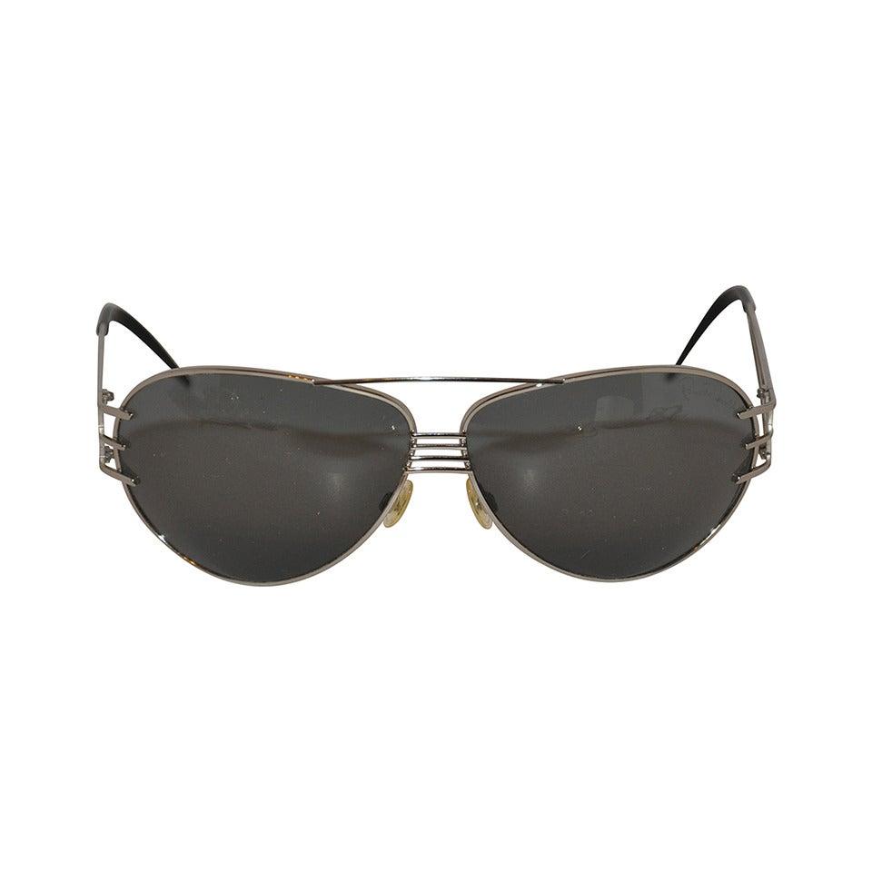 67199f6140ba5 Roberto Cavalli Silver Framed Sunglasses For Sale at 1stdibs