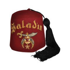 Gadol Masonic Hat with Detailed Hand-Embroidered Gold & Silver Threads