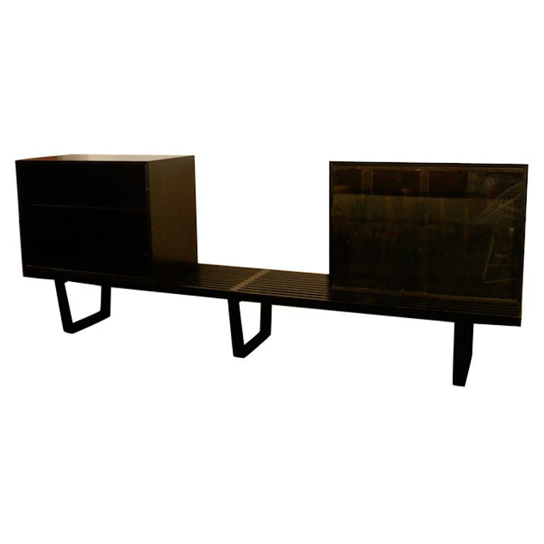 George Nelson 102 Bench With Display Cabinet And Shelf At 1stdibs
