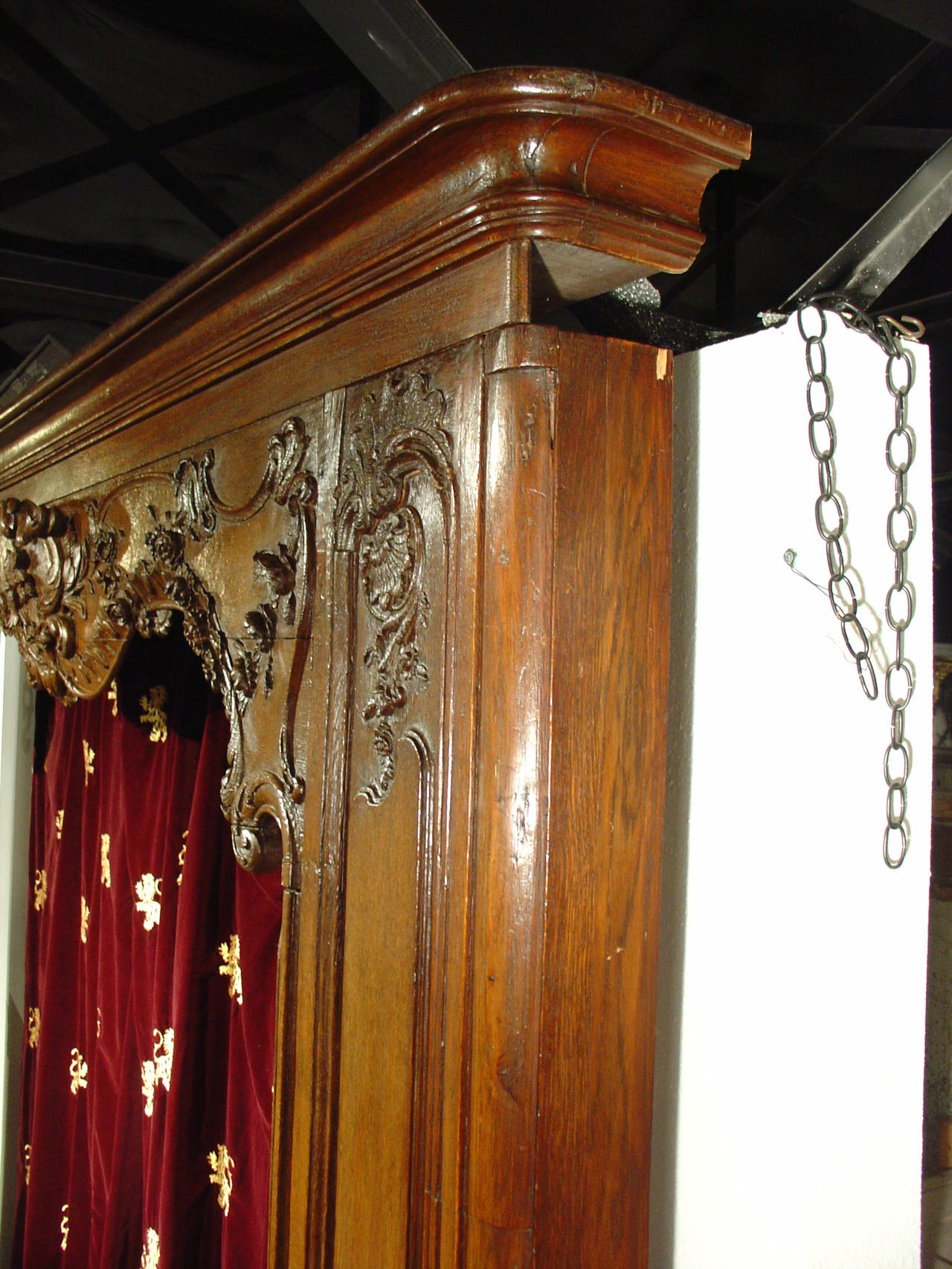 Carved Antique French Boiserie Door Surround from the 1700s For Sale