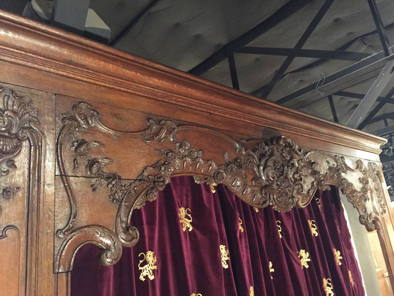 Antique French Boiserie Door Surround from the 1700s For Sale 3