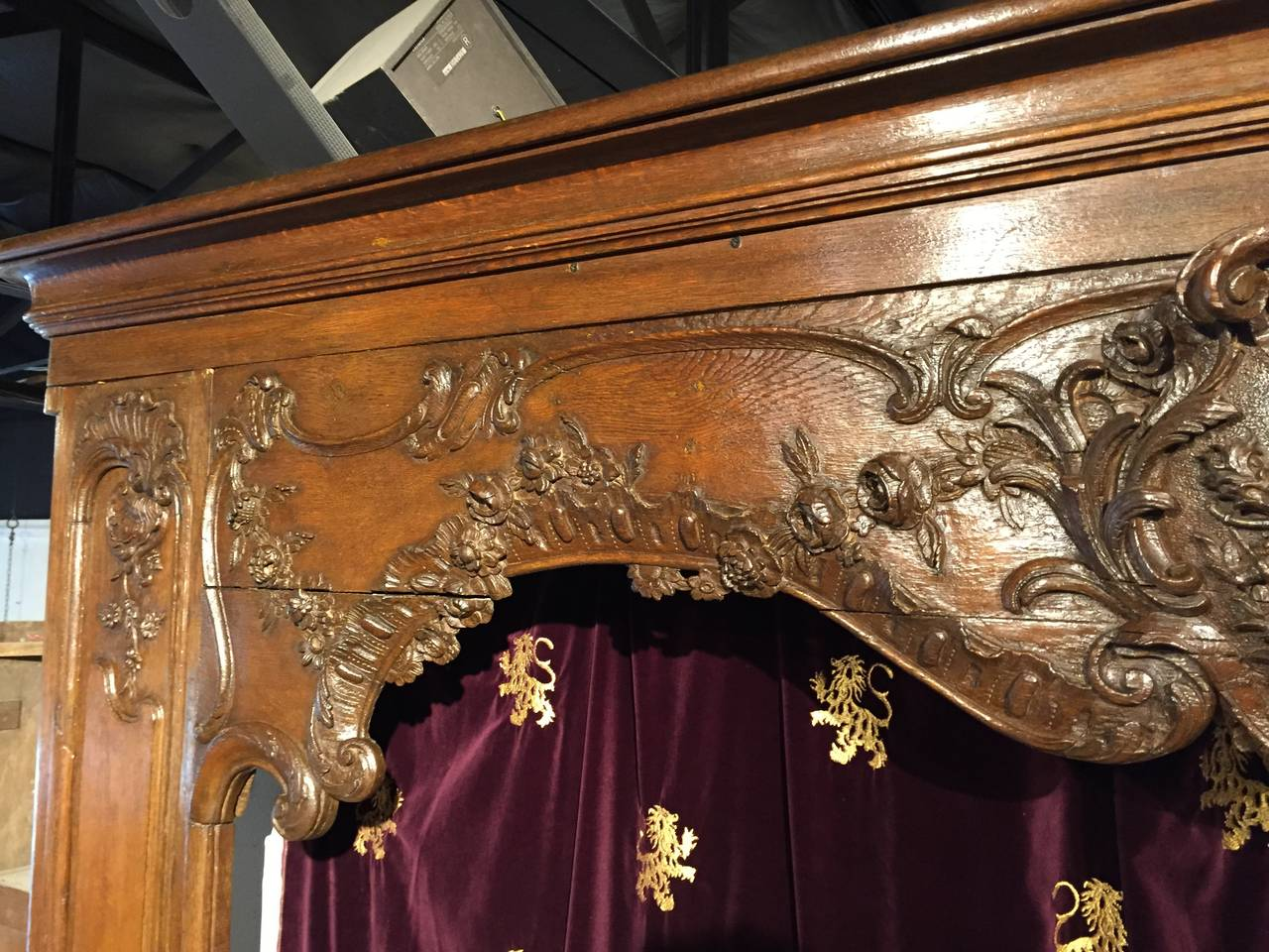 Antique French Boiserie Door Surround from the 1700s For Sale 2