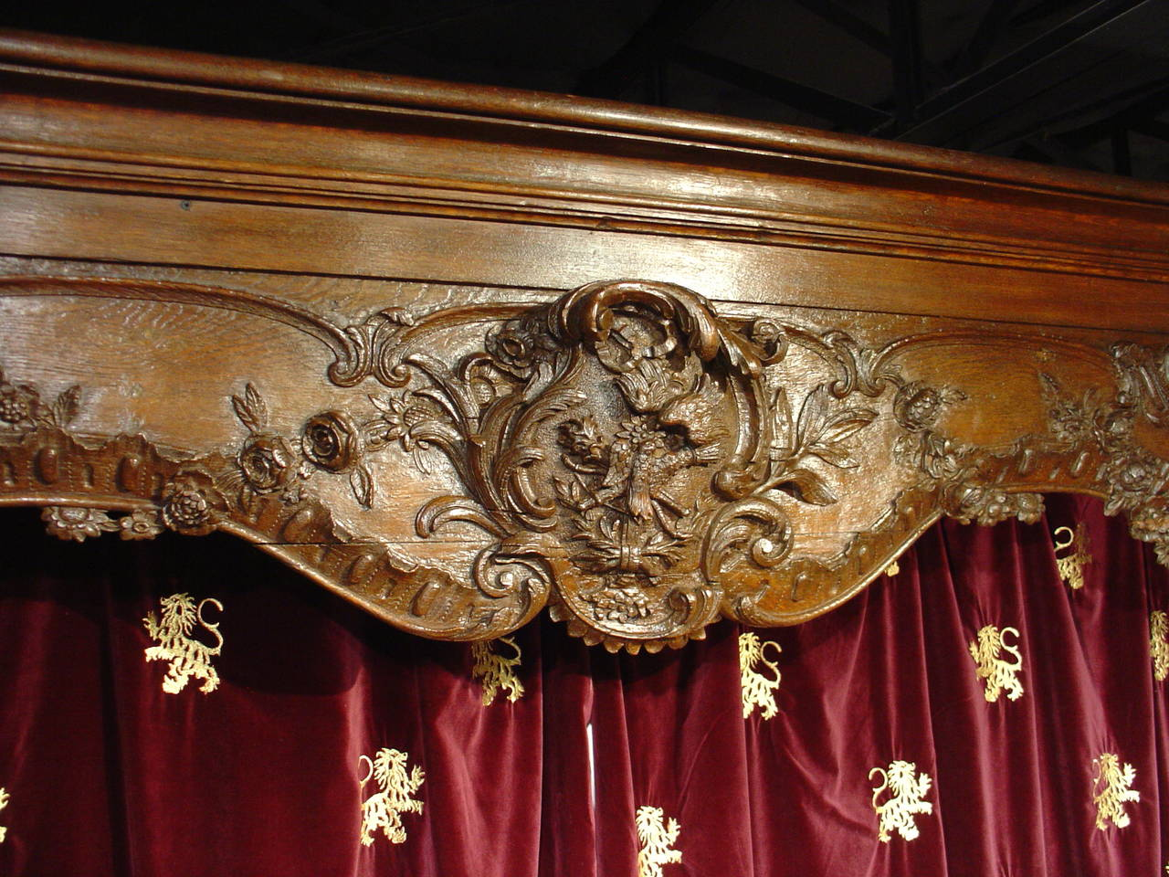 Oak Antique French Boiserie Door Surround from the 1700s For Sale