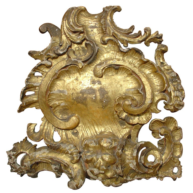 grand 18th century giltwood 39 coquille rocaille 39 at 1stdibs