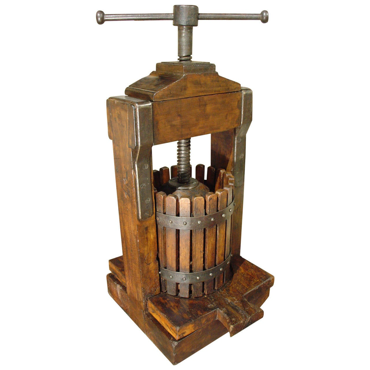 A large 19th century wine press from france at 1stdibs for Home wine press