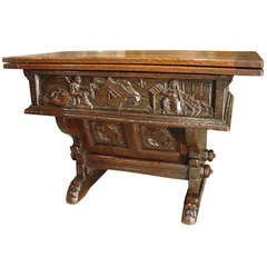17th Century French Money Changer Table