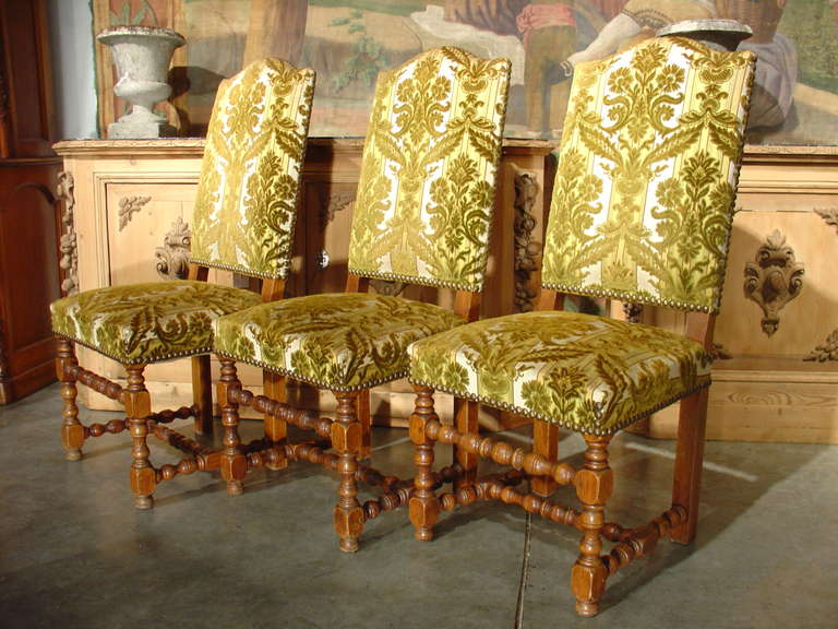 Set of 8 Antique Louis XIII Style Oak Dining Chairs 6